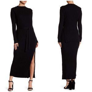 ❄️LAST1️⃣//BLACK RIBBED WOOL BLEND DRESS